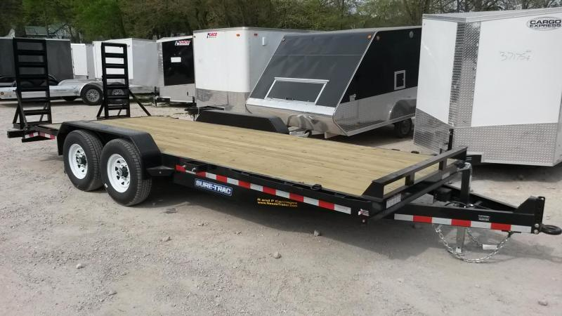 2021 Sure-Trac 7x20 Wood Deck Equipment Trailer 14k