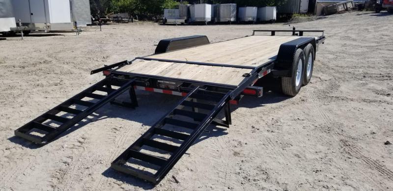 2021 Sure-Trac 7x20 Wood Deck Equipment Trailer 16k