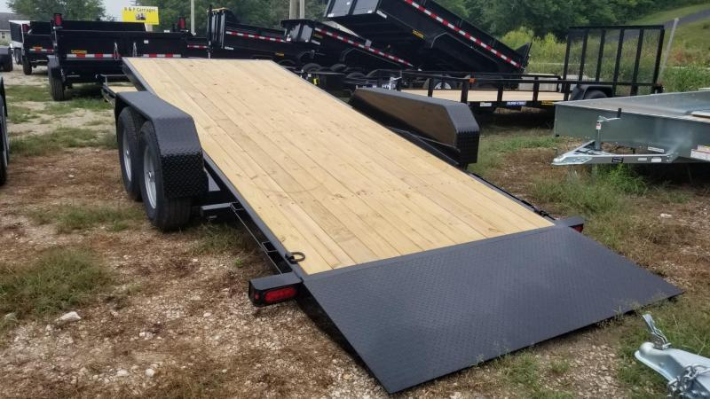 ON ORDER 2021 Sure-Trac 7x18+4 Tilt Deck Equipment Trailer w/Stationary 14k
