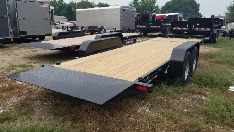 ON ORDER 2021 Sure-Trac 7x18+4 Tilt Deck Equipment Trailer w/Stationary 14k