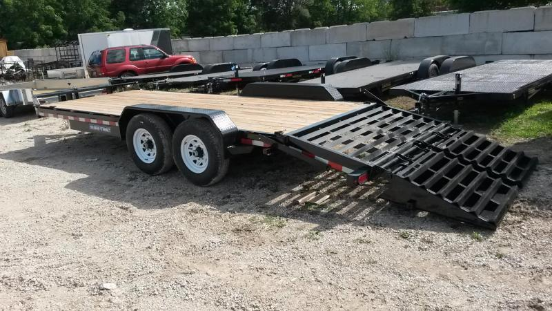 ON ORDER 2021 Sure-Trac 7x17+3 Implement Trailer w/Universal Ramps 14k