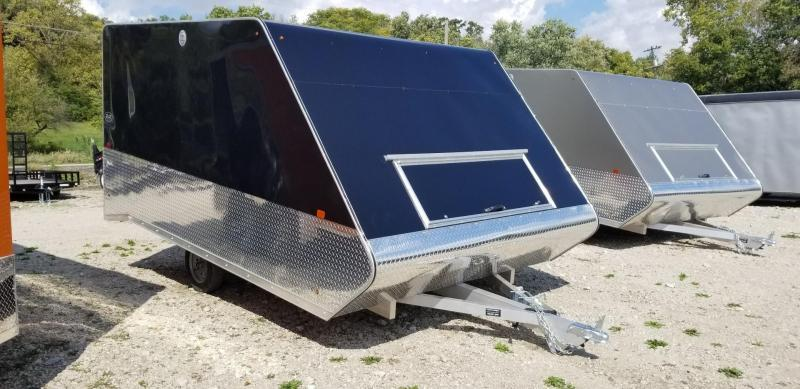 2020 R and R 12ARC Aluminum 2 Place Snowmobile Trailer 3k