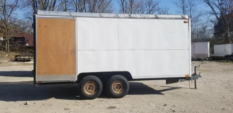 1986 Wells Cargo 7.5x16 Enclosed Cargo Trailer 7k