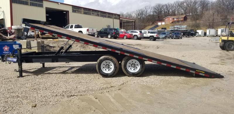 FOR RENT ONLY #24 8.5x22 Power Tilt Equipment Trailer