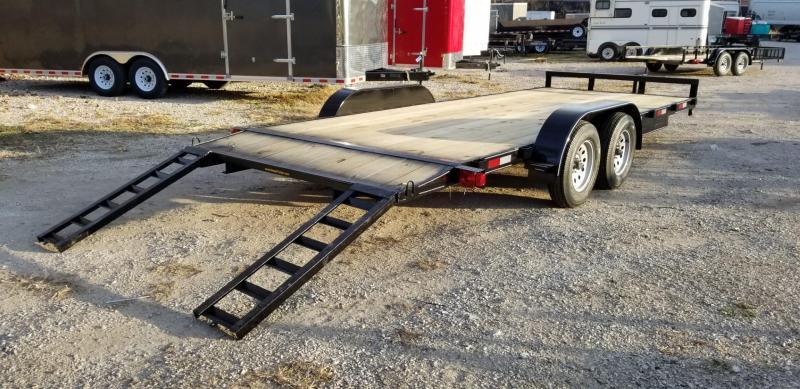 2020 M.E.B 7x20 Open Wood Deck Auto Hauler 7K
