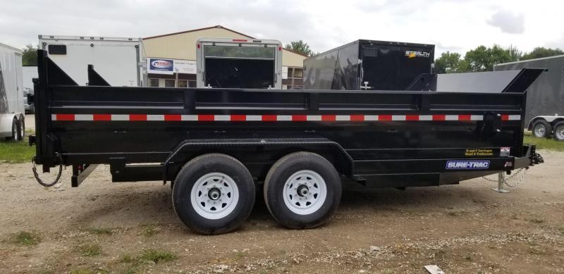 2021 Sure-Trac 82x14 Dual Ram Dump Trailer 14k