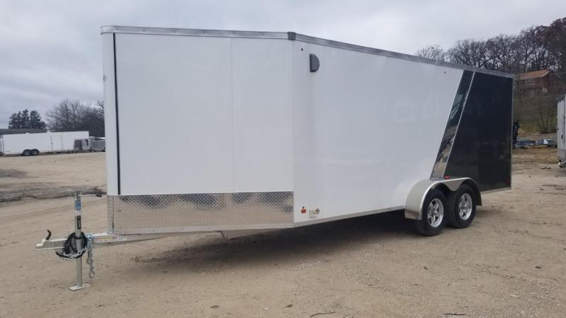 ON ORDER 2020 R and R 7x18 Slasher Elite Aluminum Drive Thru 3 Place Snowmobile Trailer 7k
