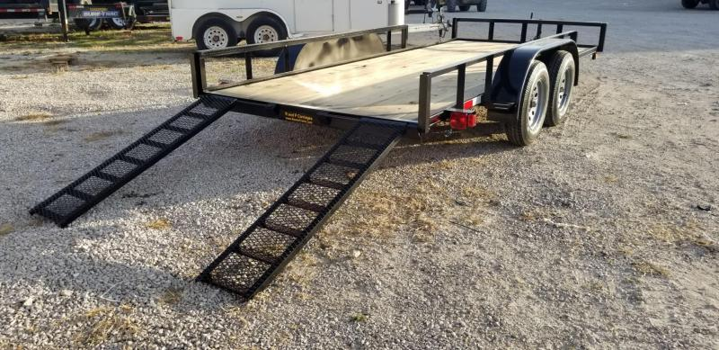 2020 M.E.B 6.4x16 ATV Utility Trailer w/Side Load Ramps and Brake 7k