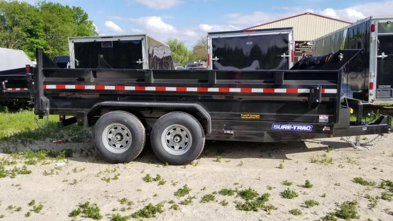 2022 Sure-Trac 82x12 Dual Ram Dump Trailer 12k