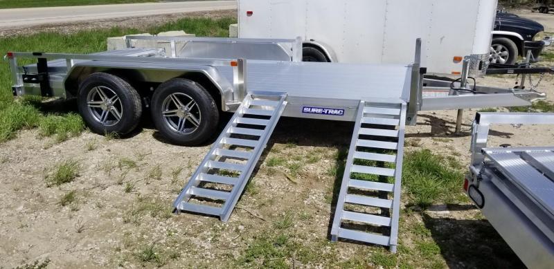 2021 Sure-Trac 7x14 Aluminum ATV Utility Trailer 7K GVWR