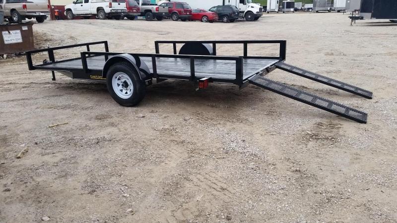 2021 M.E.B 82x14 ATV/Utility Trailer w/5' Side Load Ramps 3k