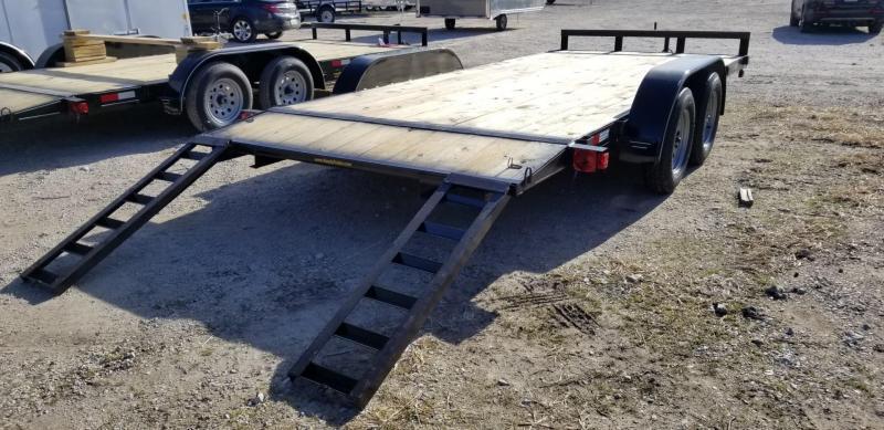 2021 M.E.B 7x18 Wood Deck Open Auto Hauler 7K