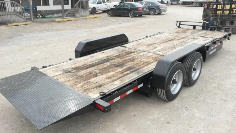 2021 Sure-Trac 7x18+4 Oak Wood Tilt Deck Equipment Trailer w/Stationary 16K