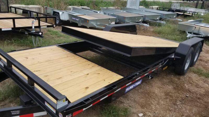 2021 Sure-Trac 7x18+4 Tilt Deck Equipment Trailer 14k