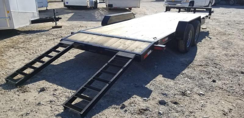 2021 M.E.B. 7x22 Equipment Trailer w/Slide Out Ramps 12k