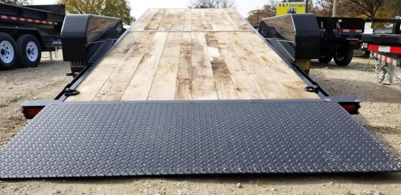 2021 Sure-Trac 7x18+4 Oak Wood Tilt Deck Equipment Trailer 16K