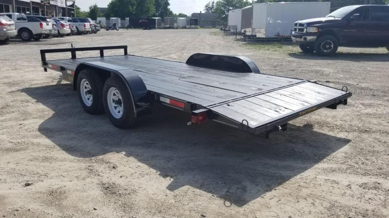 ON ORDER 2020 M.E.B 7x18 Wood Deck Open Auto Hauler 7K