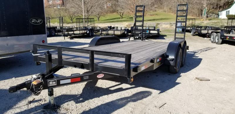 2020 MEB 7x16 Equipment Trailer w/Stand Up Ramps 10k