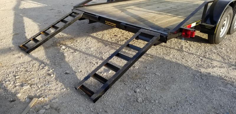 2021 M.E.B 82x16 Utility Trailer w/Slide Out Ramps 7k