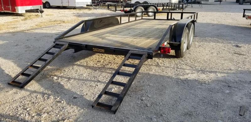 2021 M.E.B 82x16 Utility Trailer w/Slide Out Ramps 7k
