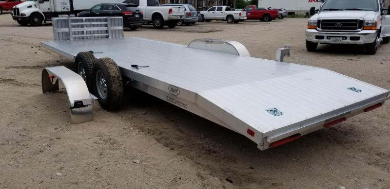 2021 R and R 7x22 All Aluminum Open Auto Hauler w/Wide Front Load 10k