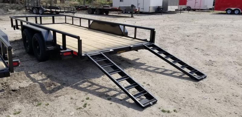 2022 M.E.B 82x16 Piperail Utility Trailer w/Ramps 10k