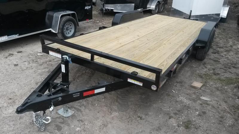 2022 Sure-Trac 7x20 Open Wood Deck Auto Hauler 10k