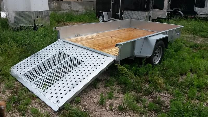 FOR RENT ONLY #27 Sure Trac 6x12 Galvanized Utility Trailer