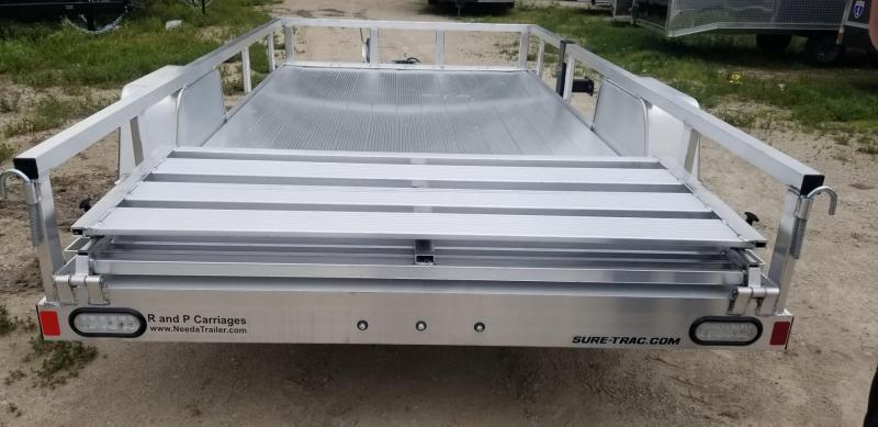 2021 Sure-Trac 7x12 Aluminum Tube Top Utility Trailer 3k GVWR