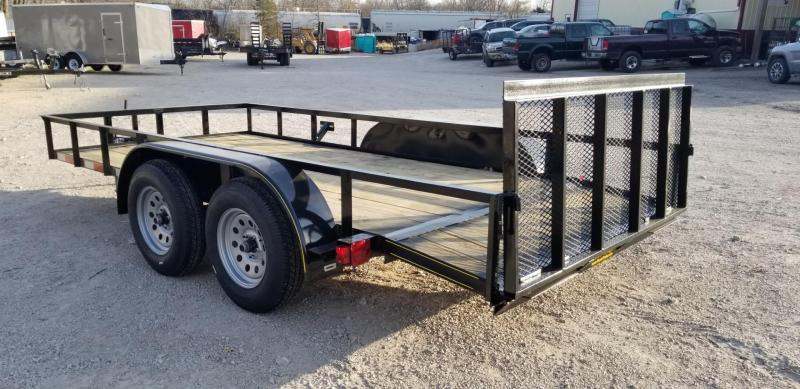 2021 M.E.B 6.4x14 Utility Trailer w/Gate and Dovetail 7k