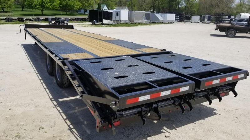 2021 Sure-Trac 8.5x25+5 Heavy Duty Equipment Trailer w/Full Width Ramps 22.5k