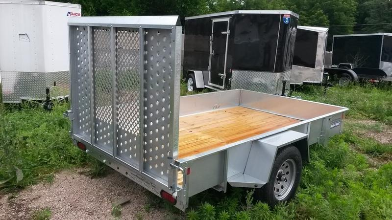 FOR RENT ONLY #14 Sure Trac 6x12 Galvanized Utility Trailer