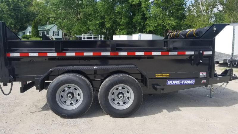ON ORDER 2021 Sure-Trac 82x12 Dual Ram Dump Trailer 12k