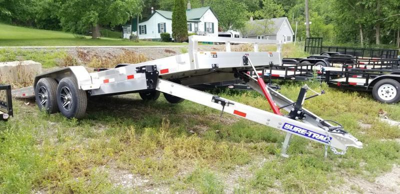 2021 Sure-Trac 82x20 Aluminum Manual Tilt Car Hauler 10k GVWR