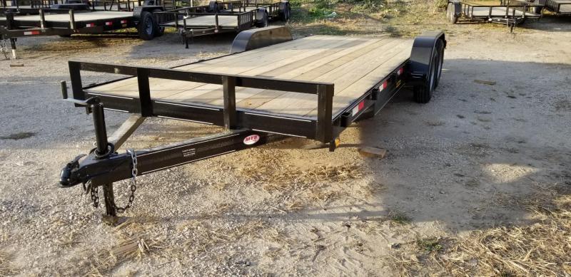 2022 M.E.B 7x20 Open Wood Deck Auto Hauler 7K