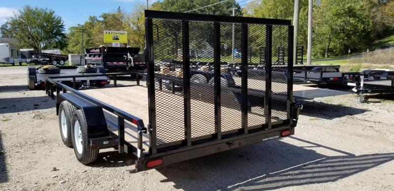 ON ORDER 2021 Sure-Trac 7x16 Tube Top Utility Trailer w/Ramp Gate 7k