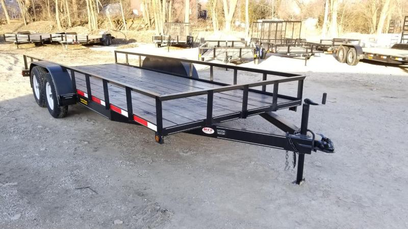 ON ORDER 2020 M.E.B 6.4x18 Angle Iron Utility Trailer 7k