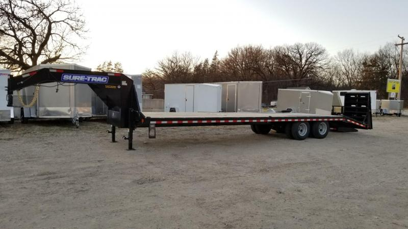 2020 Sure-Trac 8.5x27+5 Heavy Duty Gooseneck Equipment Trailer w/Ramps 20k