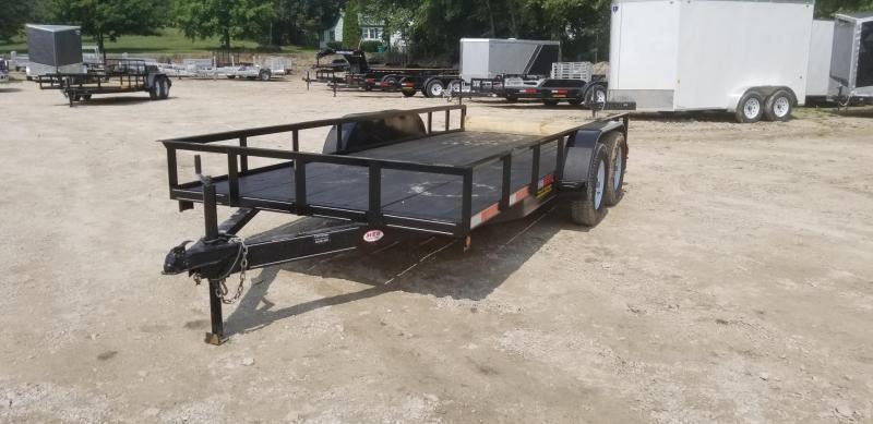 2021 M.E.B 6.4x16 Utility Trailer w/Slide Out Ramps and Brake 7k