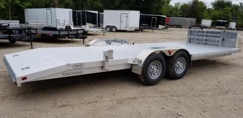 ON ORDER 2021 R and R 7x22 All Aluminum Open Auto Hauler w/Wide Front Load 10k