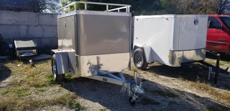ON ORDER 2021 R and R Trailers 4x6 Enclosed All Aluminum Cargo Trailer 2.2k