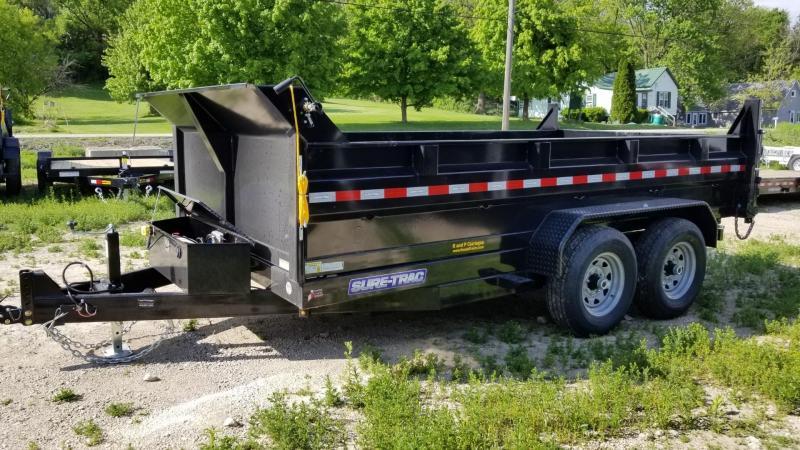 2021 Sure-Trac 82x12 Dual Ram Dump Trailer 12k