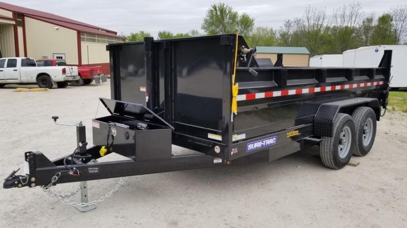 ON ORDER 2020 Sure-Trac 82x14 Telescopic Dump Trailer 14k