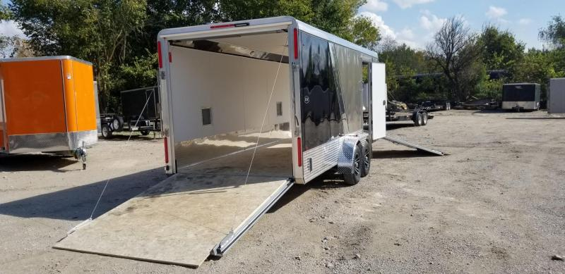 ON ORDER 2020 R&R 7x18 PSD All Aluminum Drive Thru 3 Place Snowmobile Trailer 7k
