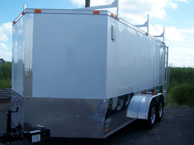 7X16 VR Enclosed Construction Trailer
