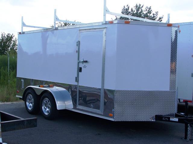 7X16 VR Enclosed Construction Trailer