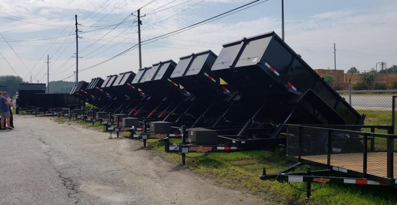 """Down 2 Earth Trailers D2E 6x12 10K Dump Equipment Trailer W/ 48"""" Sides"""
