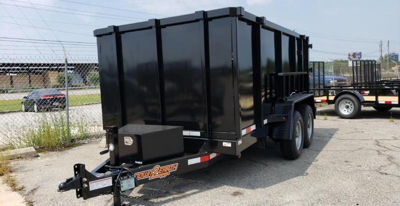 "Down 2 Earth Trailers D2E 6x12 10K Dump Equipment Trailer W/ 48"" Sides"