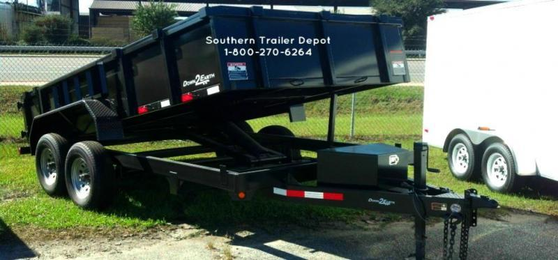 "Down 2 Earth Trailers D2E 6x12 Dump Equipment Trailer W/ 24"" Sides & Loading Ramps"