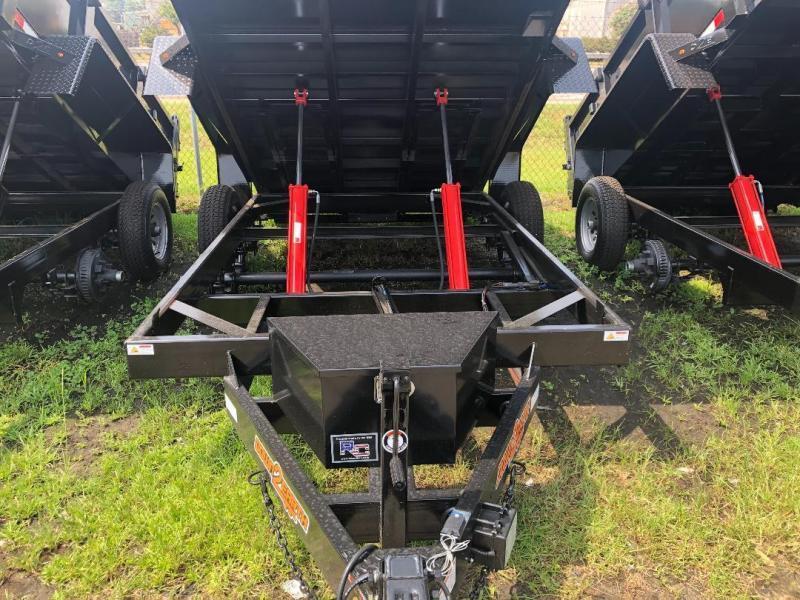 "Down 2 Earth Trailers D2E 6x12 Dump Equipment Trailer W/ 24"" Sides & Loading Ramps"